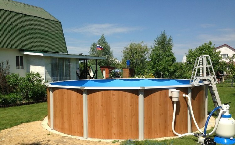 Каркасный бассейн 460х132см Atlantic Pool Esprit-Big, фильтр-насос Kripsol