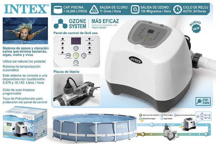 Хлоргенератор с озонатором Intex 26666 Krystal Clear Ozone and Saltwater System